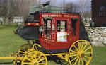 A fine, three quarter scale,'pony size', working replica of the historic and famous Concord Coach,