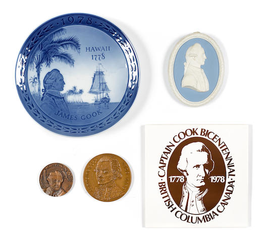 [COOK, JAMES. 1728-1779.] A group of limited issue commemorative items relating to the Bicentennials of Cook's voyages, including: