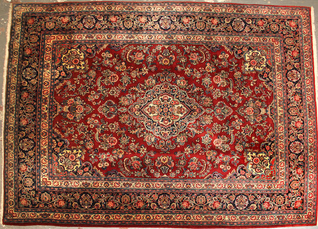 A Kasvin carpet size approximately 9ft. x 12ft. 3in.