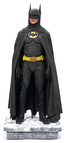 A Michael Keaton Batman costume from Batman Returns