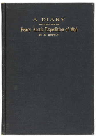 HOPPIN, BENJAMIN. A Diary Kept while with the Peary Arctic Expedition of 1896 (cover title). [New Haven?, 1897.]