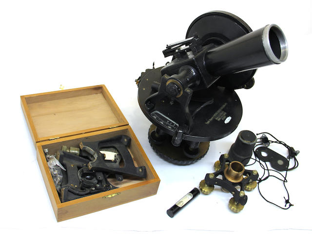 A theodolite, two theodolite tripods and various polls