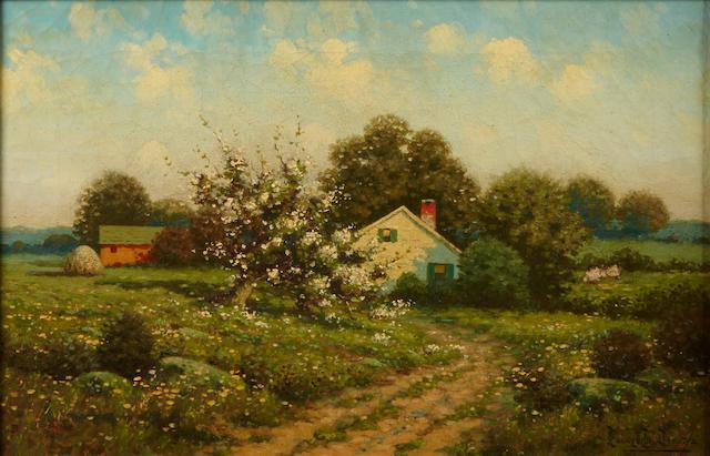 George W. Drew (American, 1875-1968) A rural landscape 12 1/4 x 18in