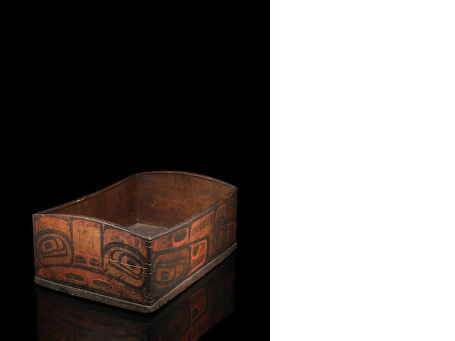 A Northwest Coast food storage box