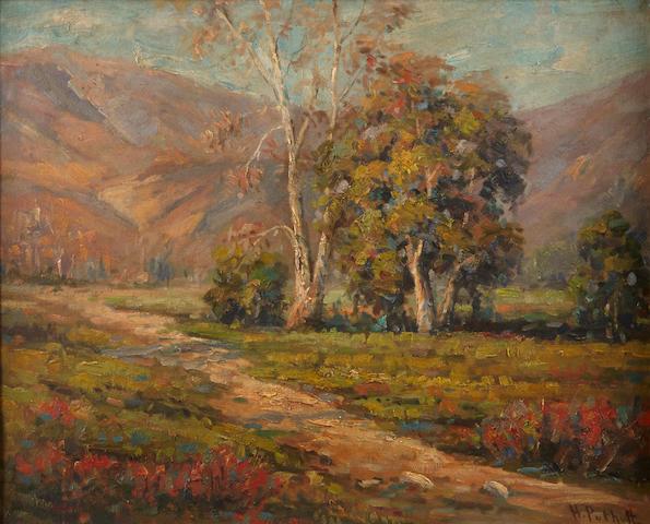 Hanson Puthuff (American, 1875-1972) California landscape 16 x 20in