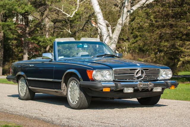 1985 Mercedes-Benz 380SL Convertible  Chassis no. WDBBA45CXFA033122