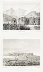 ALASKA. A group of 22 engraved plates of Alaskan views and natives, including: