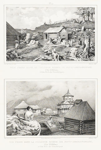 ALASKA. A group of 21 engraved plates of Alaskan views and natives, including: