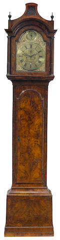 A George II/III walnut tall case clock <BR />Thos. Ricket, High Wycomb <BR />mid 18th century
