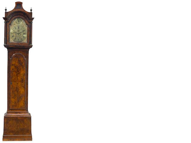 A George II/III walnut tall case clock <BR />Thos. Ricket, High Wycomb <BR />mid 18th century