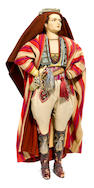 An extremely rare Lenci felt doll of Rudolph Valentino as seen in his film The Son of the Sheik