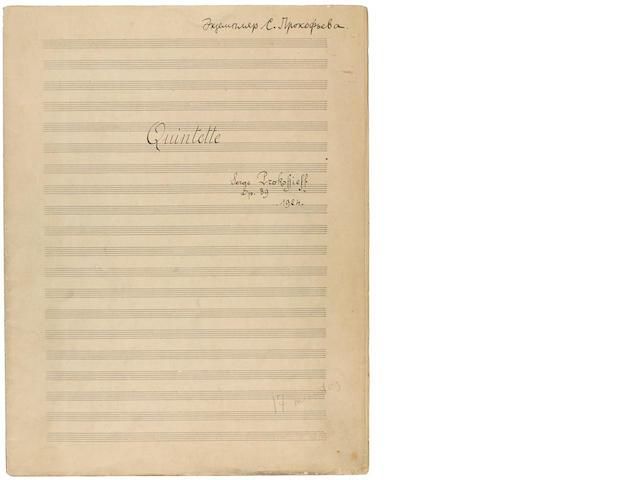 Prokofiev, quartet, opus 34