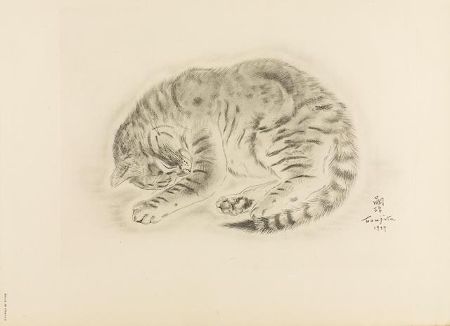 FOUJITA, TSUGUHARU, illustrator. MICHAEL JOSEPH. A Book of Cats. Being Twenty Drawings by Foujita. Poems in Prose by Michael Joseph. New York: Covici Friede Publishers, 1930.<BR />