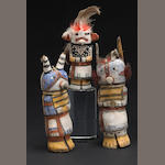 Three Hopi kachina dolls