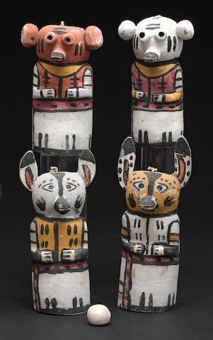 A set of Hopi game pieces