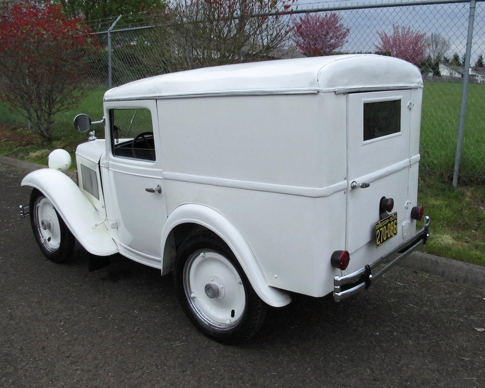 One of handful of known survivors, designed by Alexis de Sakhnoffsky,1935 American Austin Panel Truck  Chassis no. 475-8827 Engine no. M-20038