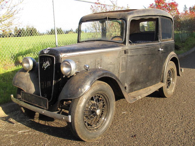 1936 Austin  7bhp 2-door Sedan  Chassis no. ARQ1796 Engine no. M202-706