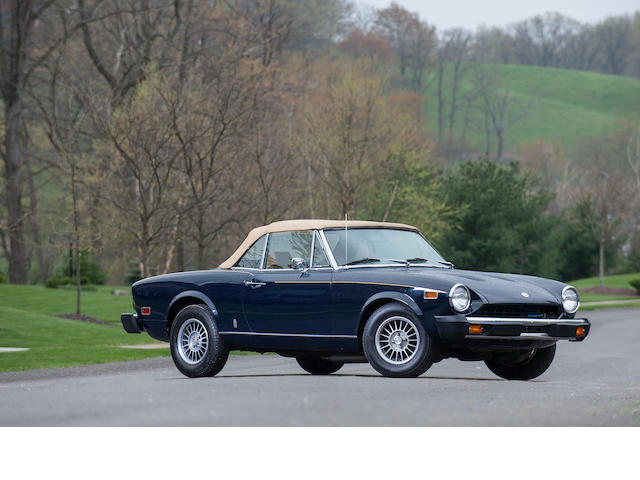 1975 Fiat 124 Sport Spider 1800  Chassis no. Chassis no. 124CS1.0092788 Engine no. 132.0405