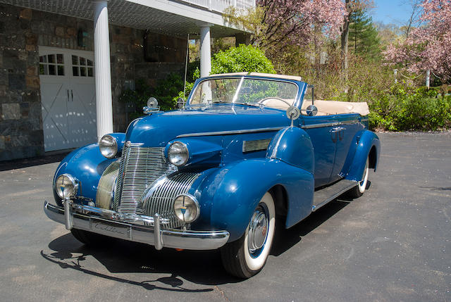 One of 36 built,1939 Cadillac Series 75 Convertible Sedan  Chassis no. 3290278