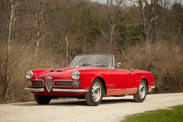 Restored at a cost of more than $160,000,1959 Alfa Romeo 2000 Touring Spyder  Chassis no. AR 10204 00168 Engine no. AR 00204 00200