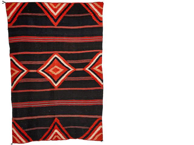 A Navajo late classic Moki blanket