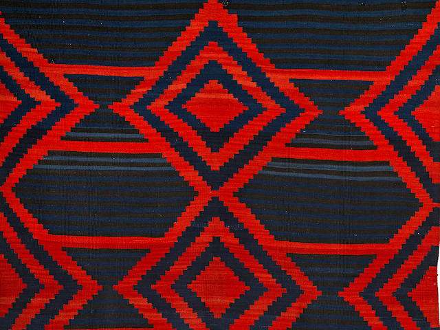 A Navajo late classic Moki serape