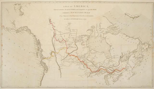 Map Of America 1820.Bonhams Mackenzie Alexander 1764 1820 A Map Of America Between