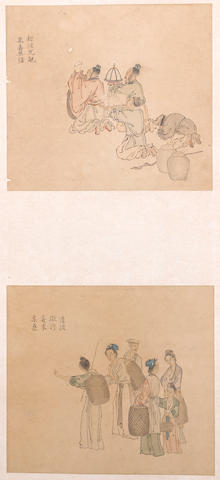Various Artists (19th/20th century) Three hanging scrolls of Figures