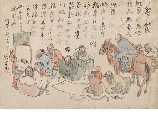 Various Artists (Edo period) Two hanging scrolls of Chinese figures