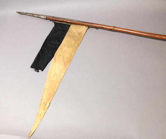 An eastern cavalry lance with pennant