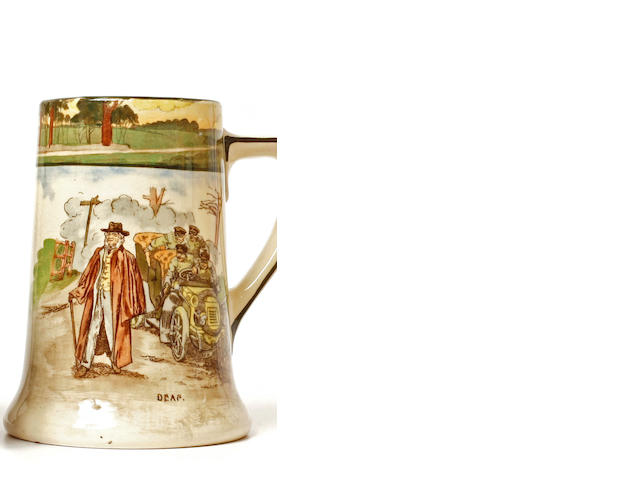 A Royal Daulton mug from the 'Motorist' line, c.1910,