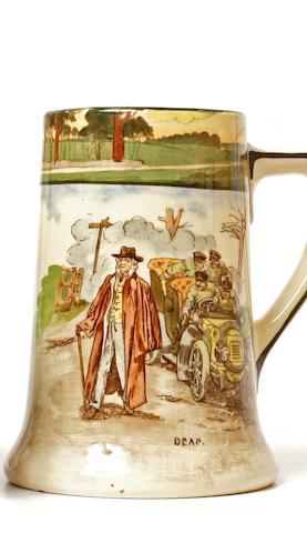 A Royal Daulton mug from the 'Motorist' line, c.1910,