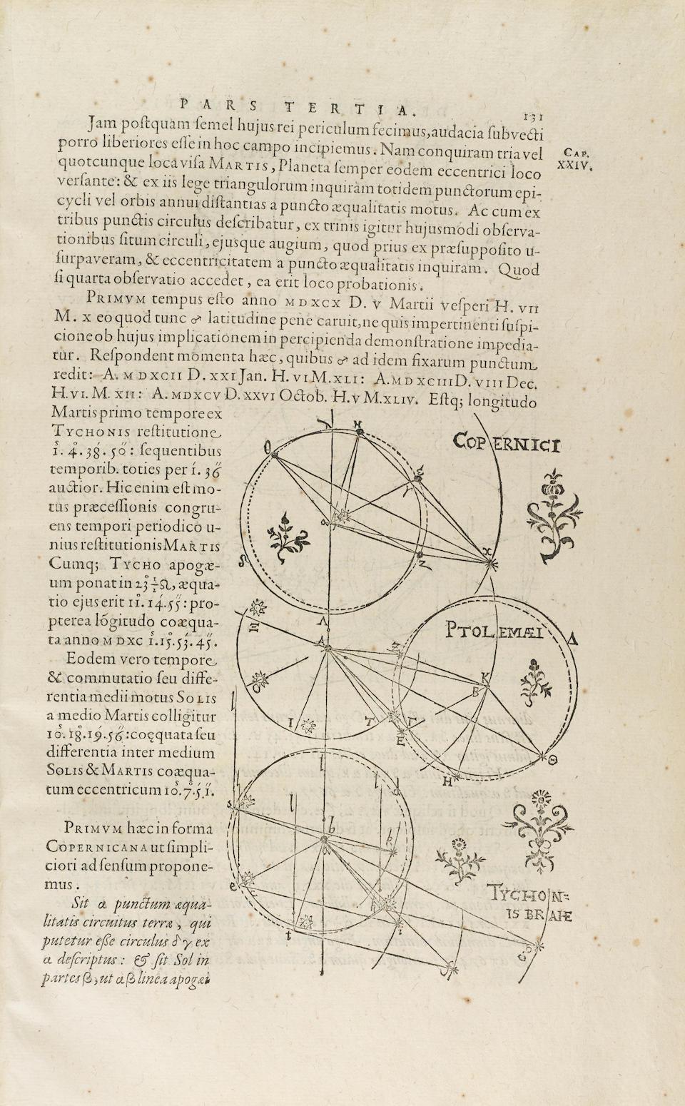 KEPLER, JOHANNES. 1571-1630. Astronomia nova ΑΙΤΙΟΛΟΓΗΖΟΣ, seu Physica Coelestis, tradita commentariis De Motibus Stellæ Martis, Ex observationibus G.V. Tychonis Brahe.... [Heidelberg: E. Vogelin], 1609.