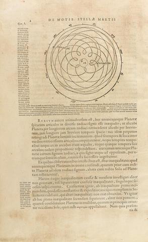 KEPLER, JOHANNES. 1571-1630. Astonomia nova ΑΙΤΙΟΛΟΓΗΖΟΣ, seu Physica Coelestis, tradita commentariis De Motibus Stellæ Martis, Ex observationibus G.V. Tychonis Brahe...   [Heidelberg: E. Vogelin], 1609.<BR />