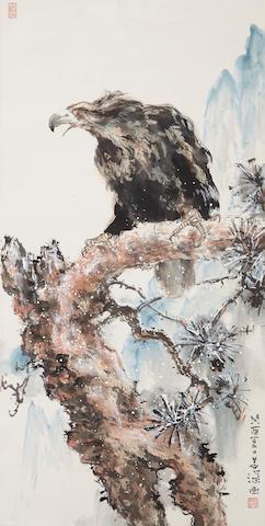 Yang Shanshen (1913-2004) Pine and Eagle