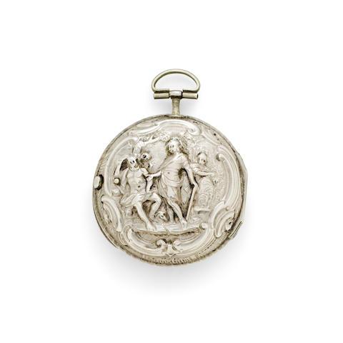 Continental. Three silver verge watches