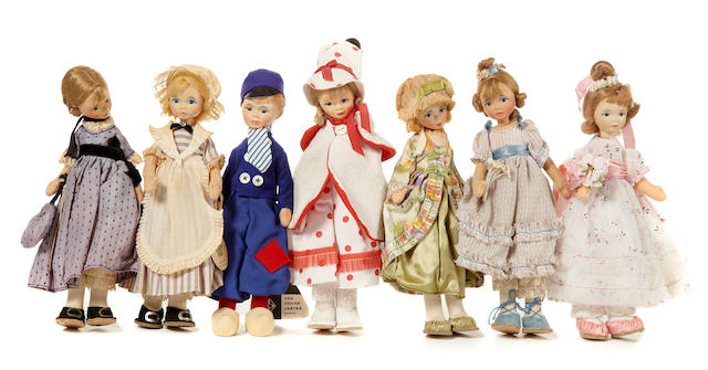 A collection of approximately 70 Old Cottage Dolls