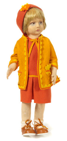 A Lenci felt girl doll