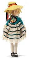 A rare Lenci felt girl doll