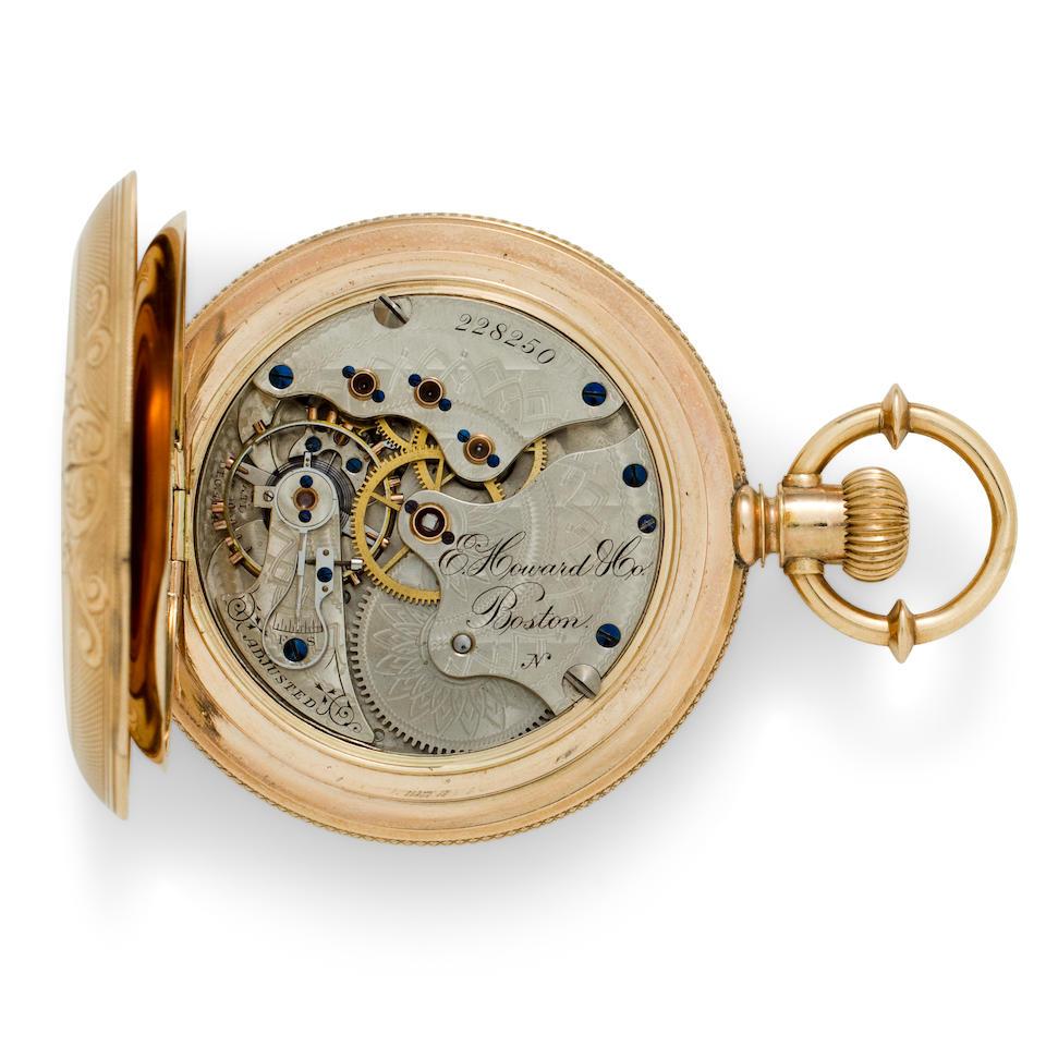 E. Howard & Co., Boston. A fine gold hunter cased watchSeries VII, No. 228250, circa 1893