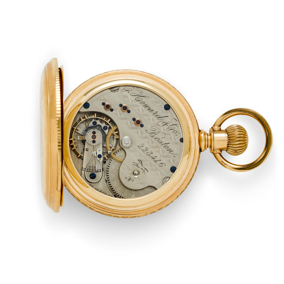 E. Howard & Co., Boston. A 14K gold hunter cased watchSeries VII, no. 223416
