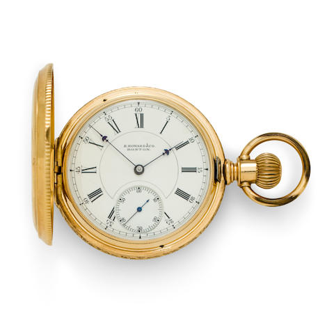 E. Howard & Co., Boston. A 14K gold hunter cased watch Series VII, no. 223416