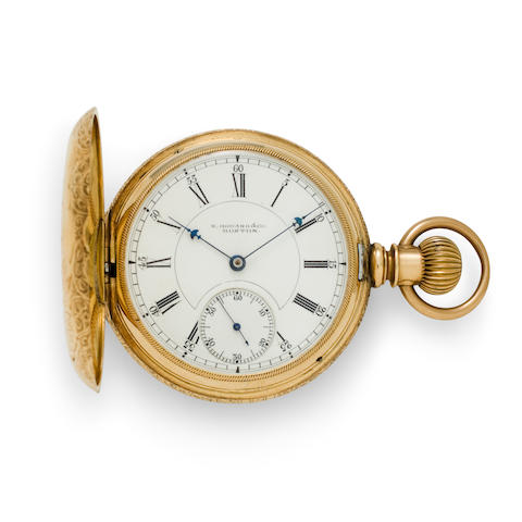 E. Howard & Co., Boston. A 14K engraved gold hunter cased watchSeries VII, No. 222058