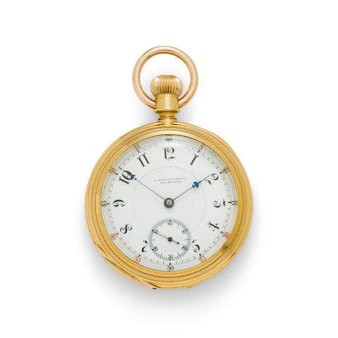 E. Howard & Co., Boston. An 18K gold open face watchSeries XII, No. 700429