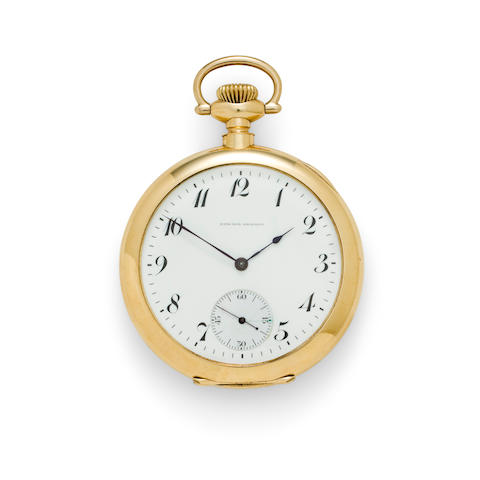 E. Howard Watch Co., Boston. A rare 14K gold open face watchEdward Howard, no. 124