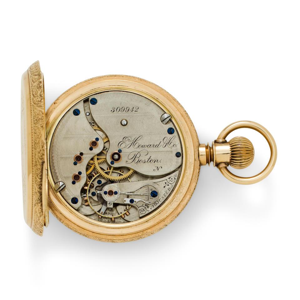 E. Howard & Co., Boston. A fine 14K gold open face watchSeries VIII, No. 309942