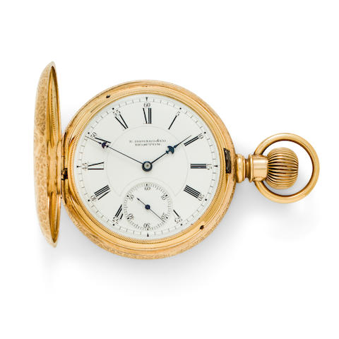 E. Howard & Co., Boston. A fine 14K engraved gold hunter cased watchSeries VII, no. 229966