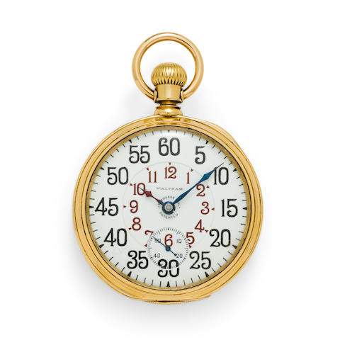 Waltham. An 18K gold openface watch with Ferguson dialVanguard, No. 10566414