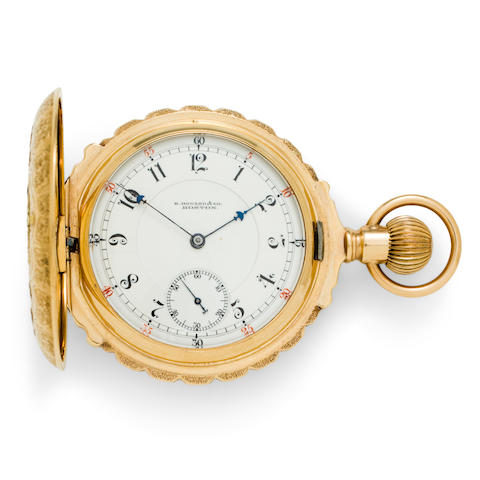 E. Howard & Co., Boston. A 14K multi color gold box hinge hunter cased watchSeries VII, No. 225128, 1890's