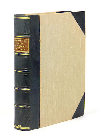 [SANSCRIT.] WILSON, H.H. A Dictionary in Sanscrit and English ... from an Original Compilation prepared by Learned Natives for the College of Fort William. Calcutta: printed at the Education Press, 1832.<BR />